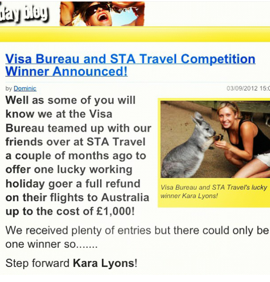 Flashback to STA's Travel Competition 2012!